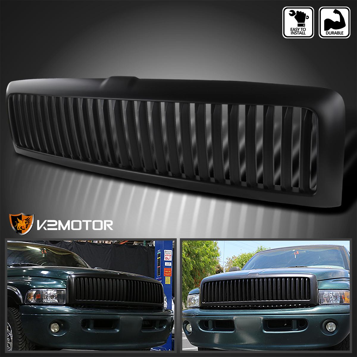 Dodge 94 01 Ram 1500 Black Led Drl Headlights Vertical