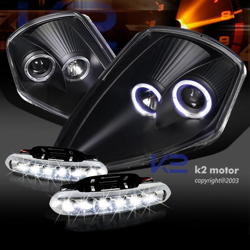 Black 00 05 Eclipse Dual Halo Projector Headlight Bumper