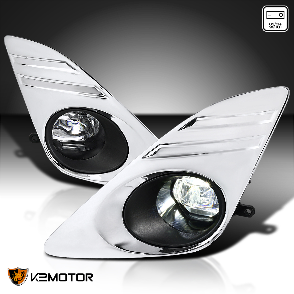 For 2012-2014 Toyota Camry Clear Bumper Driving Fog Lights ...