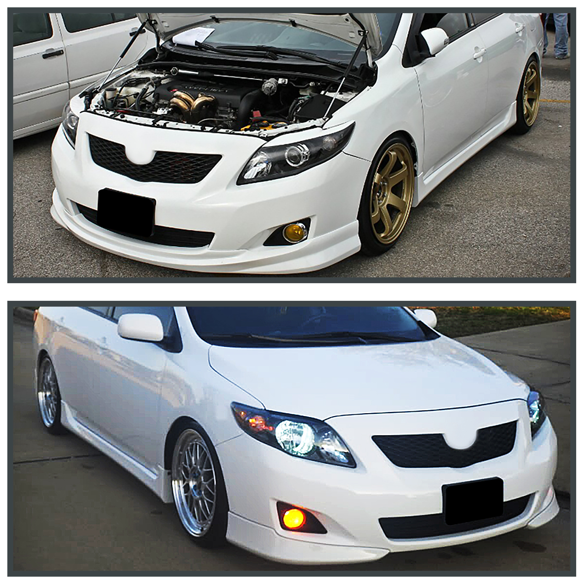 For 2009 2010 Toyota Corolla Jdm Yellow Bumper Driving Fog