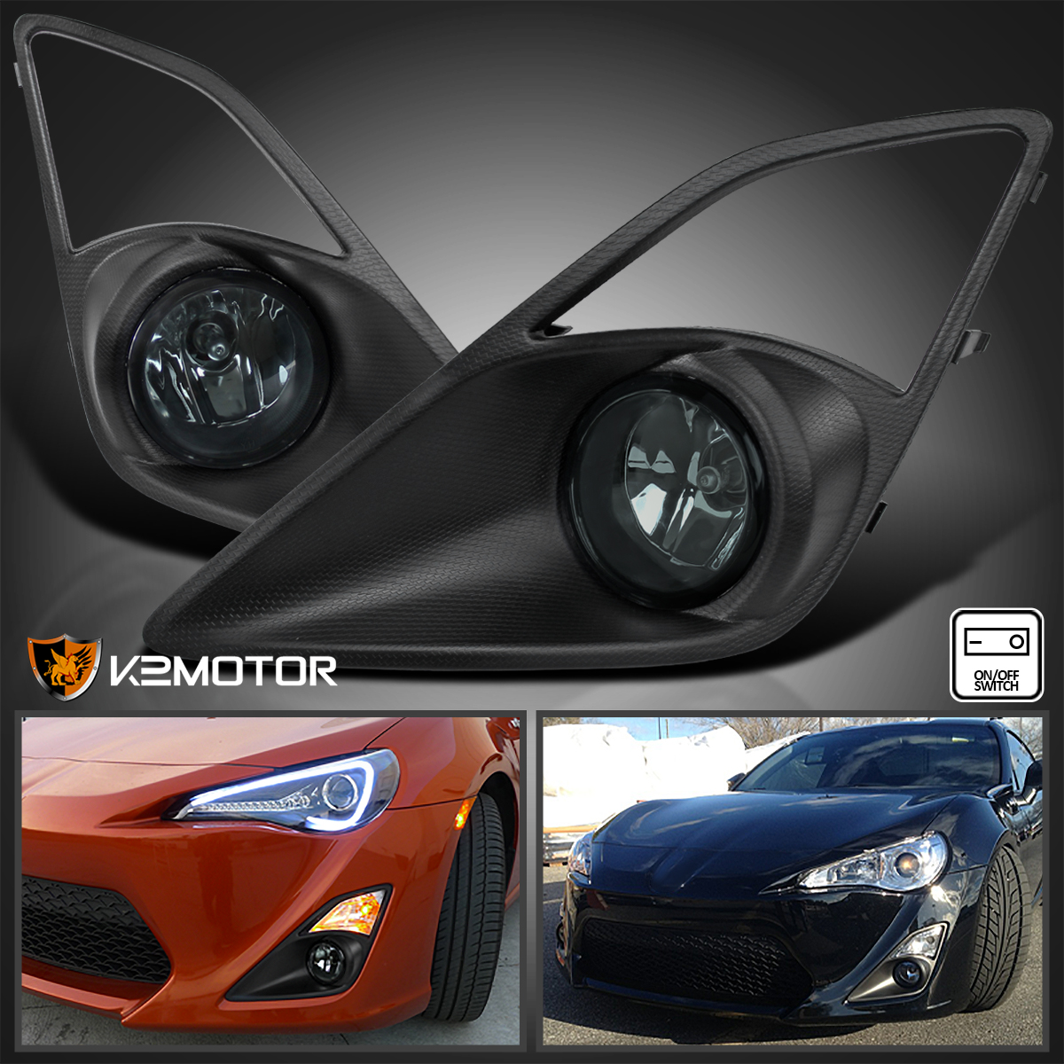for 12 16 scion fr s toyota 86 smoke bumper driving fog lights bulbsdetails about for 12 16 scion fr s toyota 86 smoke bumper driving fog lights bulbs switch