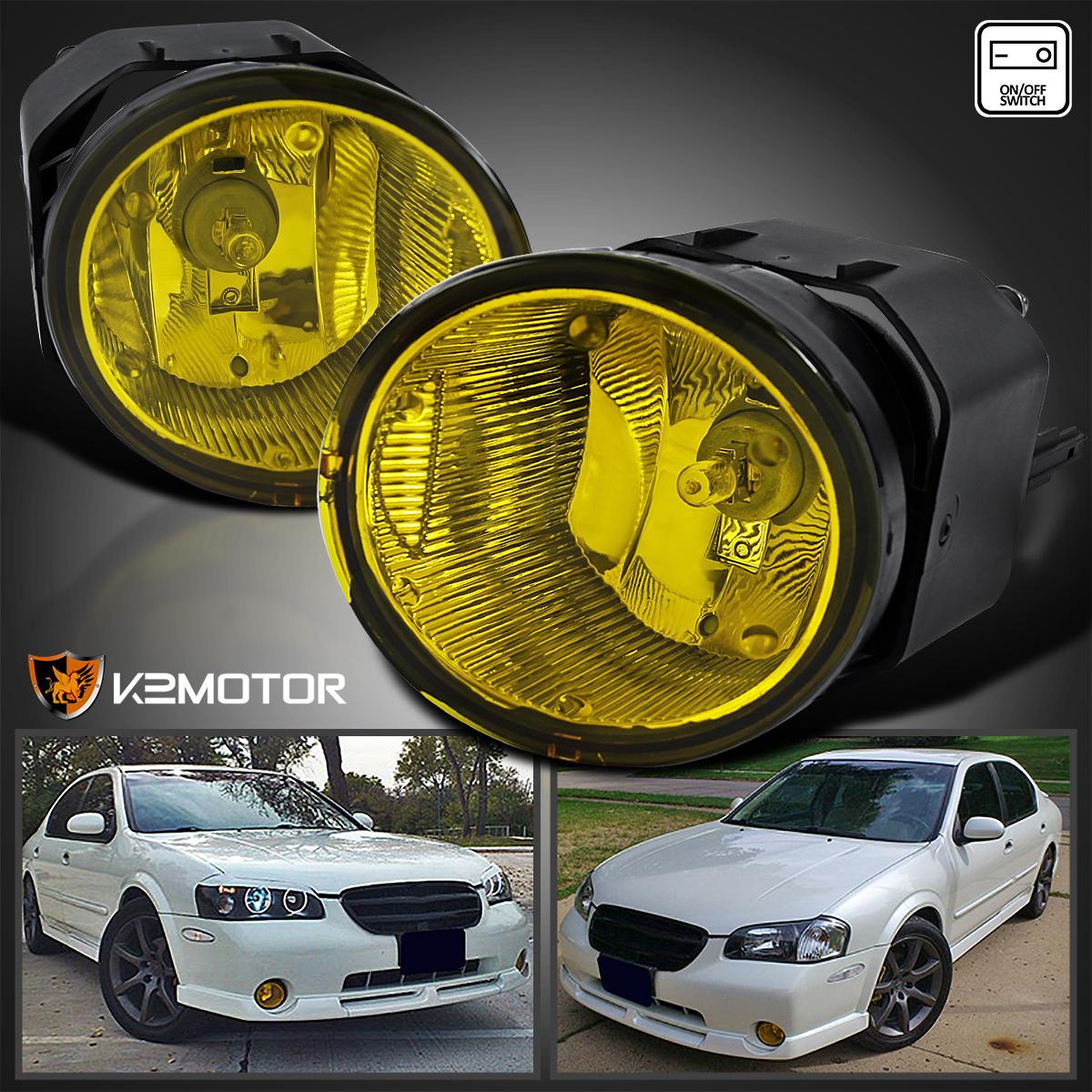 Fit 00-01 Nissan Maxima/00-03 Sentra Yellow Fog Lights ...