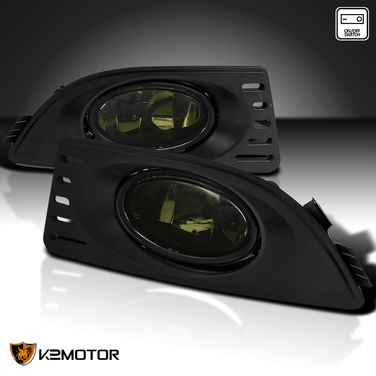 Smoke 2005-2007 Acura RSX Front Bumper Lights Driving Fog