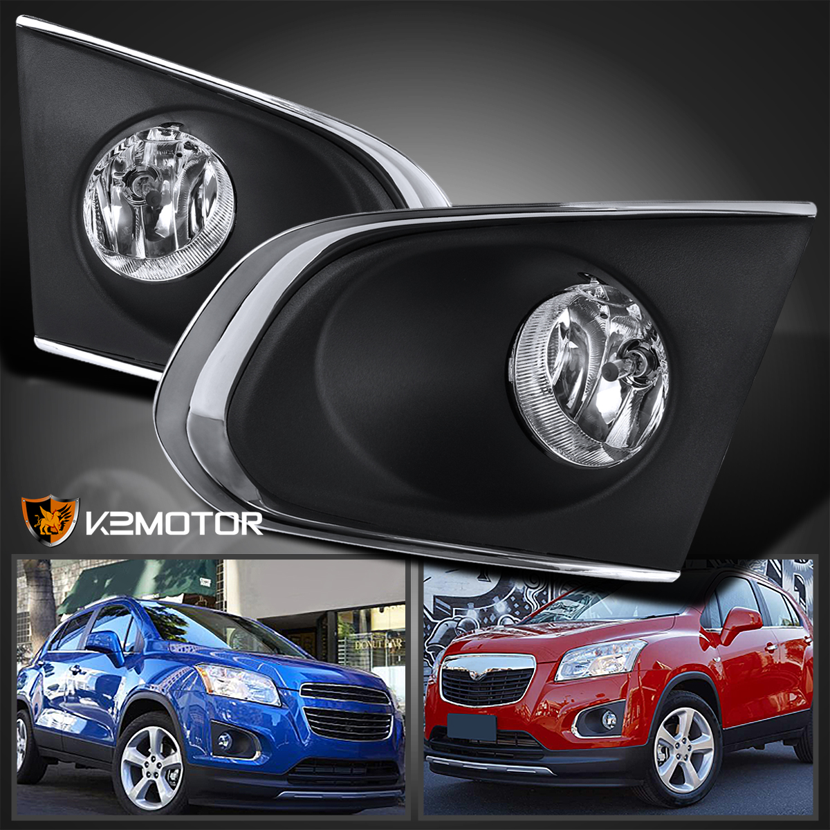 2015 2016 Chevrolet Chevy Traxtracker Clear Fog Lights Bumper Lamps