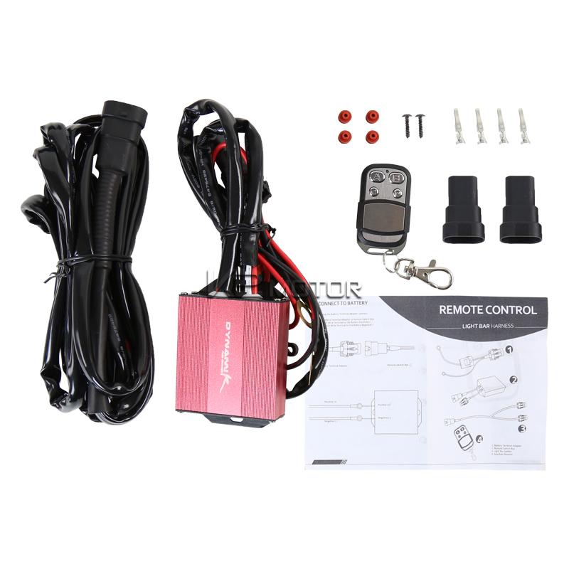 12V 14 Gauge 380W 40AMP 9ft HID LED Fog Light Wiring Harness Remote ...