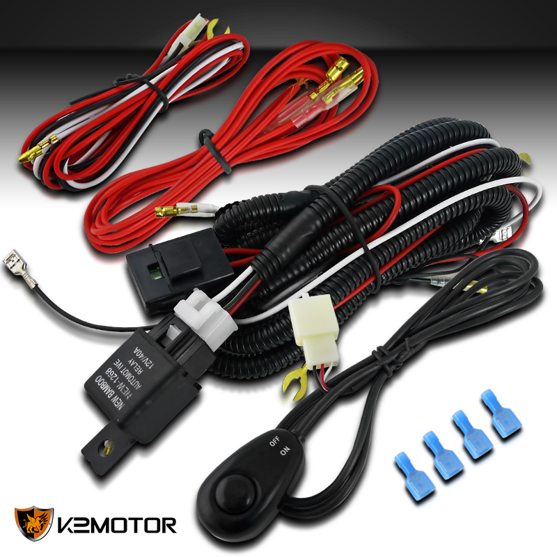 Off Road Working Fog Lights Daytime Running Lights Wiring Harness Switch Relay 684758607911