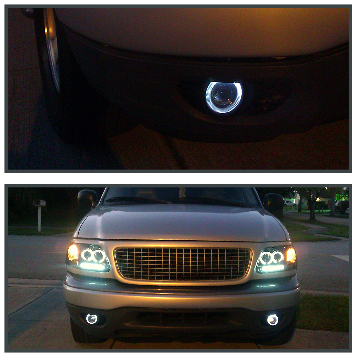 7 Color Halo 4 Projector DRL Fog Lights Bumper LampSwitch – Diagram Of Wiring Halo Projector Lights