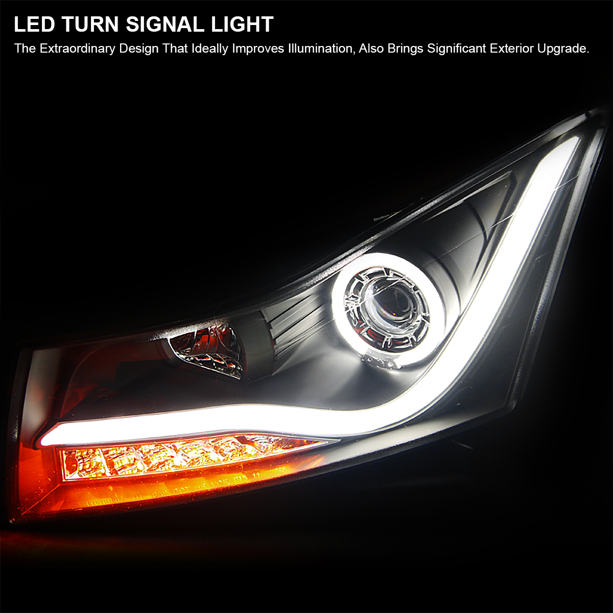 Spyder 2010-2014 Chevy Cruze PHILIPS-LED Light Tube ...  |2014 Chevy Cruze Lights