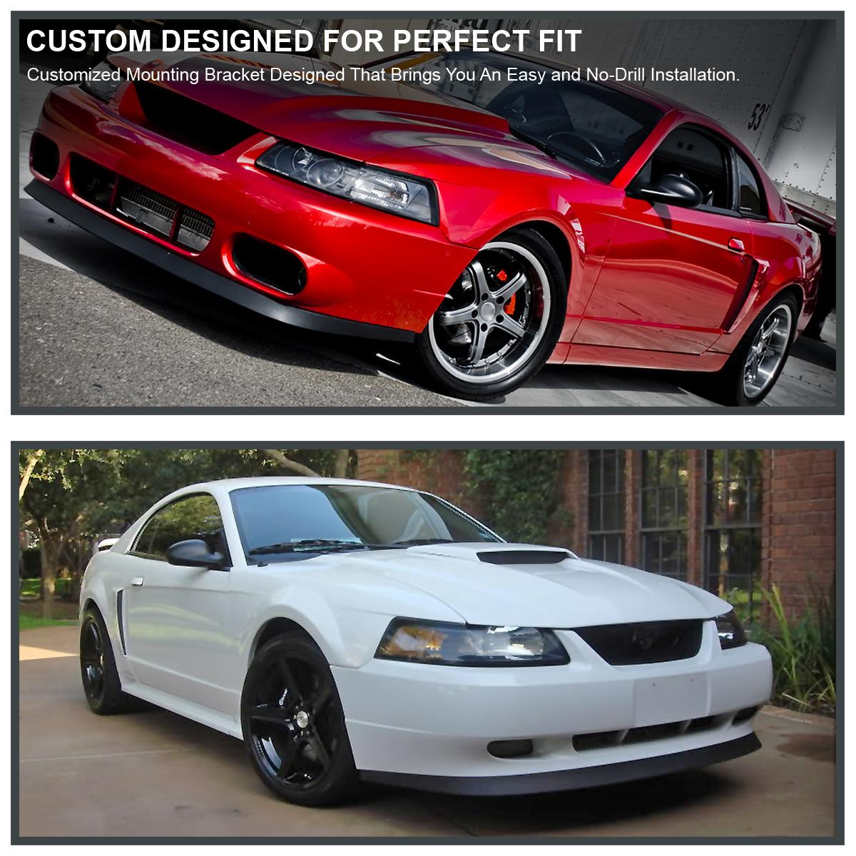 Spec-D Tuning LPF-MST99-ABS Ford Mustang Gt Svt Base V6 Sport Style Black Front Bumper Lip