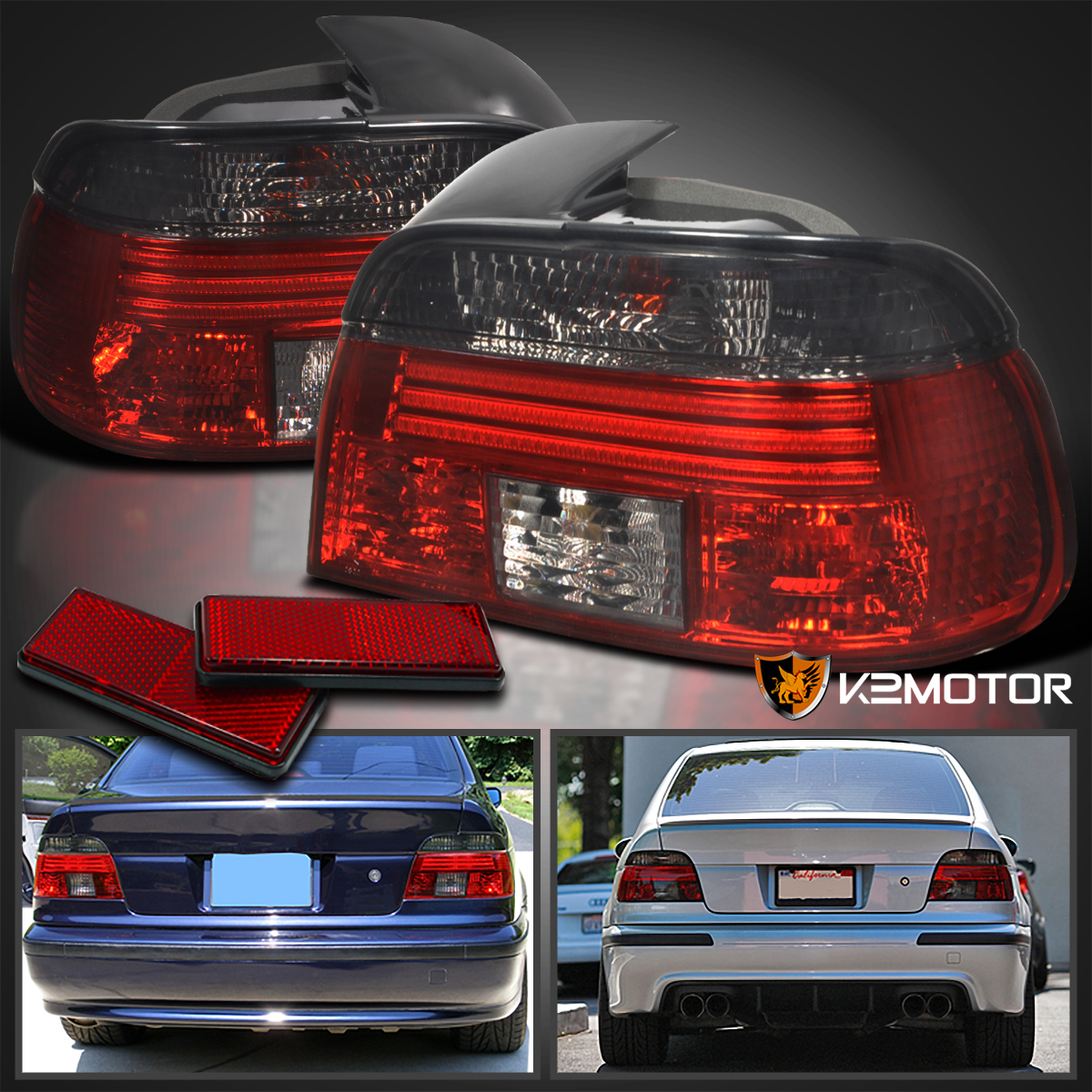 Details About 1997 2000 BMW E39 525I 528I 530I 540I 5 Series Smoke Tail Lights Left Right