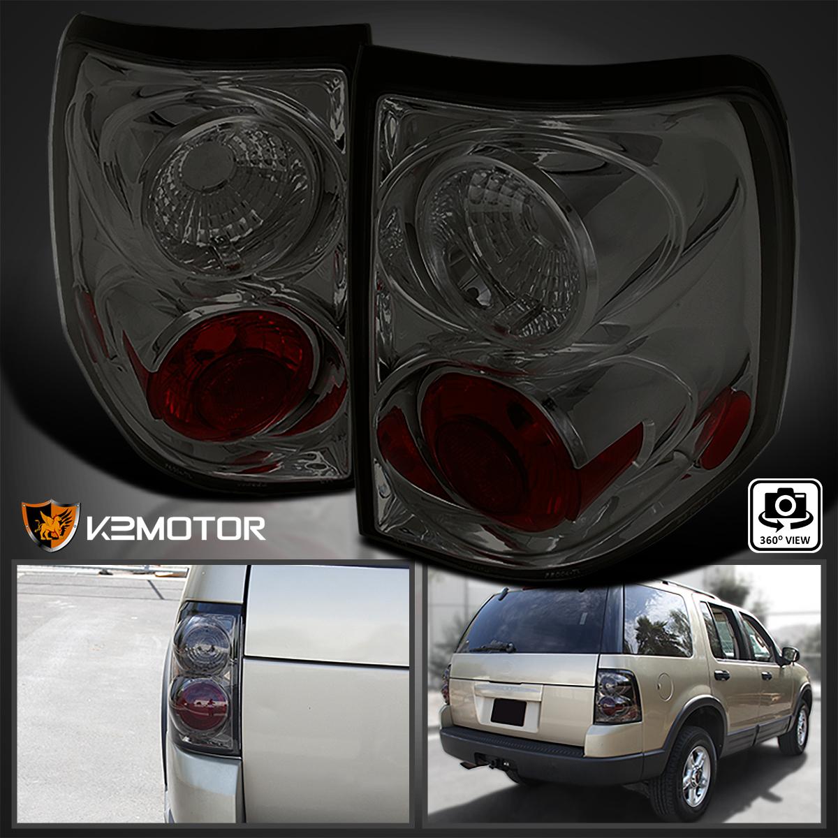 Spec-D Tuning LT-EPOR02G-TM Ford Explorer Xlt Xls Smoked Lens Altezza Tail Lights