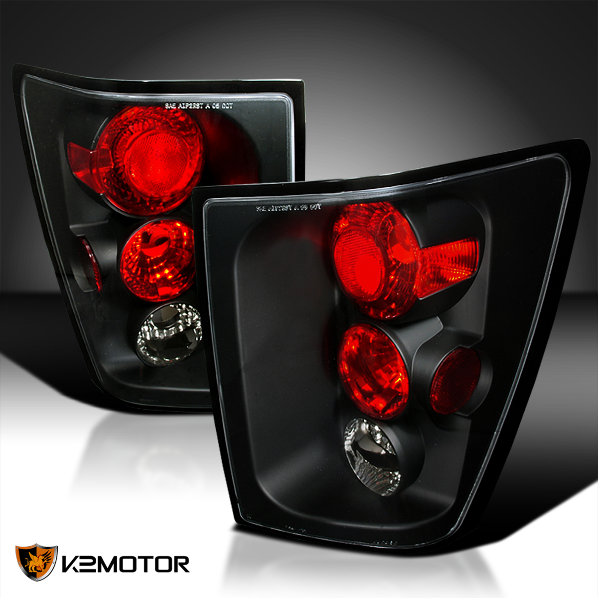 2005 2006 jeep grand cherokee black tail lights lamp ebay. Black Bedroom Furniture Sets. Home Design Ideas