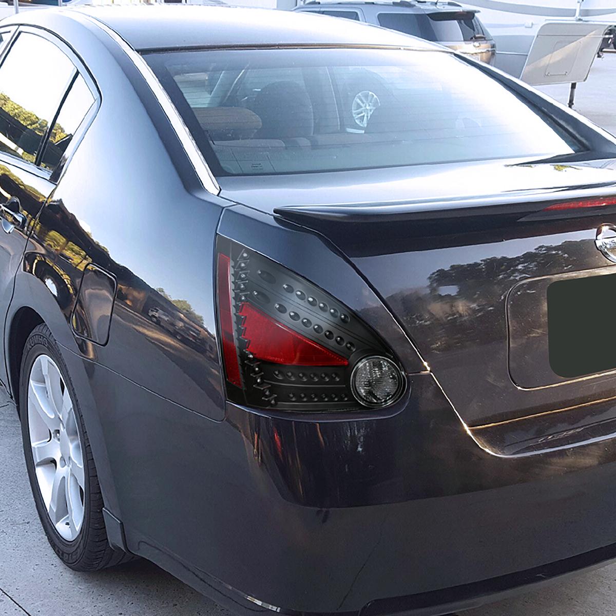 Depo Led Tail Stop Lights Black For 2004 2008 Nissan Maxima Ebay