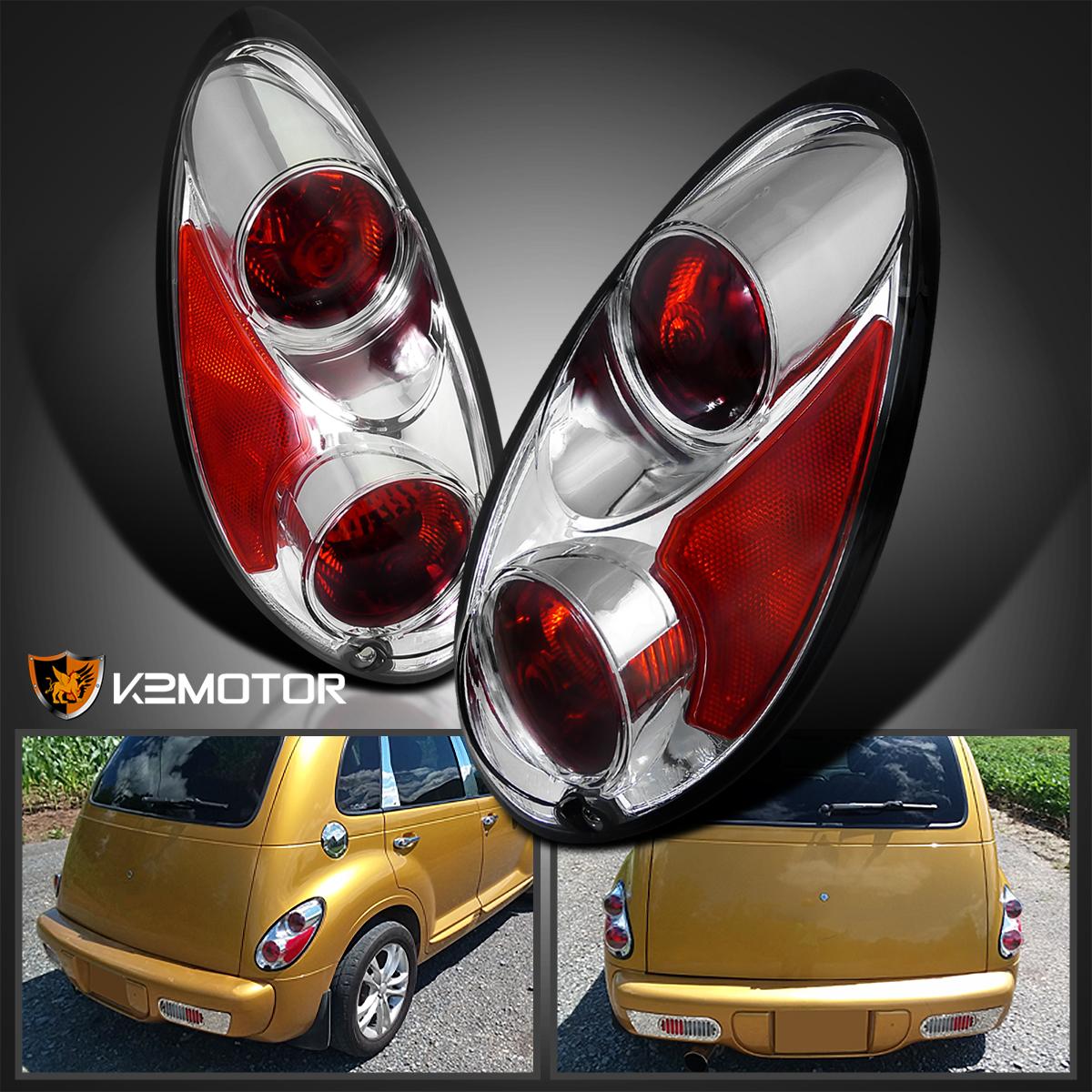 01 05 chrysler pt cruiser chrome tail lights rear lamps ebay. Black Bedroom Furniture Sets. Home Design Ideas