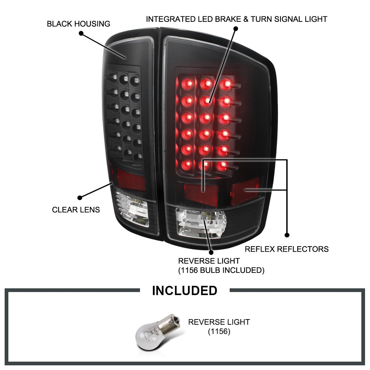 4PCS LED Rear Tail Lights Bulbs For 2007-2008 Dodge Ram 1500 2500 3500 us ship