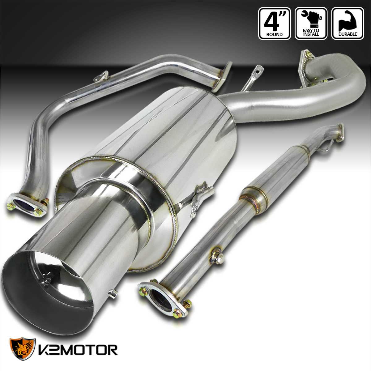 JDM High Performance Catback Exhaust System For 95 96 97 98 99 Eclipse Non Turbo