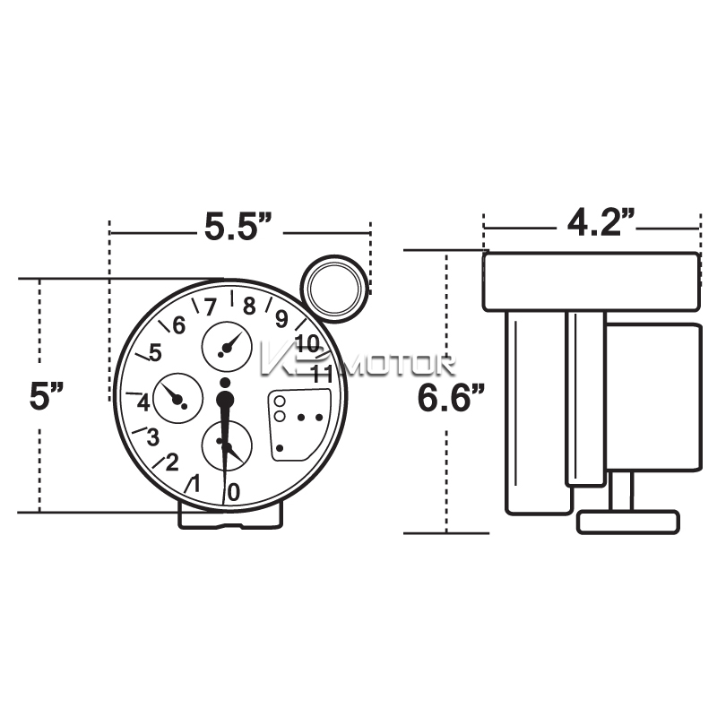 5 u0026quot  12v black car rpm 11000k tachometer meter gauge 7 color led shift light 684758617484