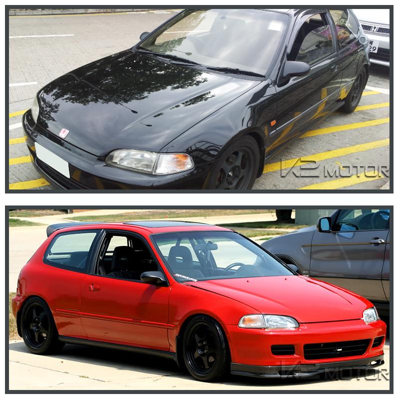 For 92-95 Honda Civic EG Sport JDM Spn Power Side Mirrors Black Left