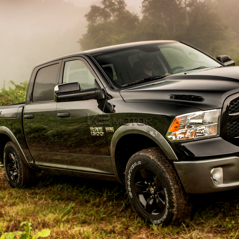 2013 2015 dodge ram 1500 2500 power heated flip up towing mirrors w led puddle ebay. Black Bedroom Furniture Sets. Home Design Ideas
