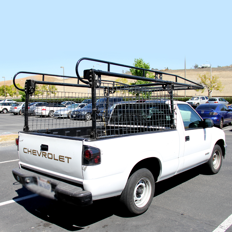 Truck Pipe Rack >> Adjustable Pickup Truck Heavy Duty 1000lb Contractor Ladder Lumber
