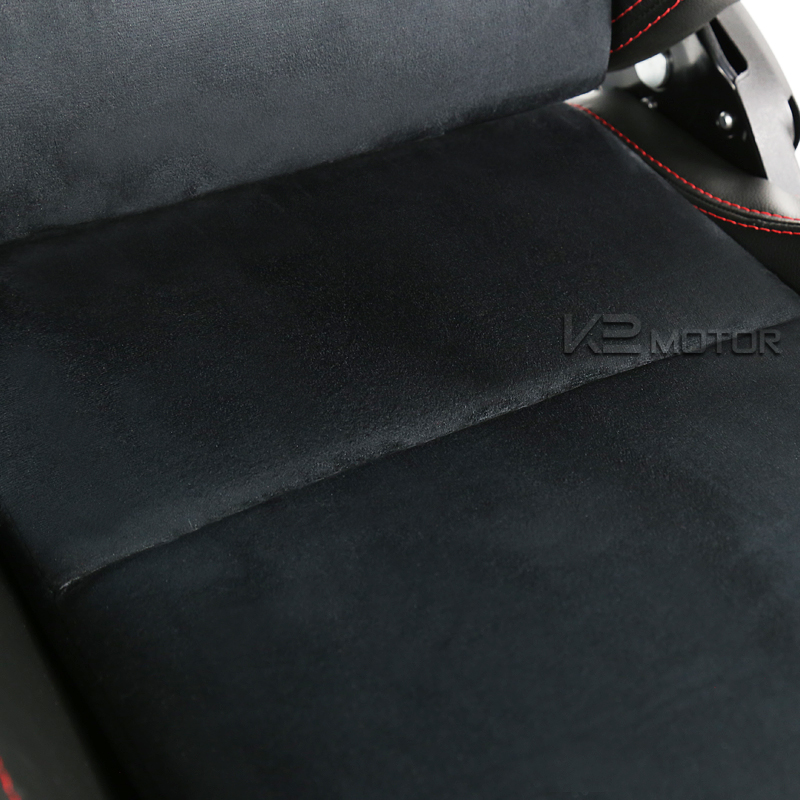 Leather-JDM-Red-Stitch-PVC-Suede-Racing-Seats-1-Pair
