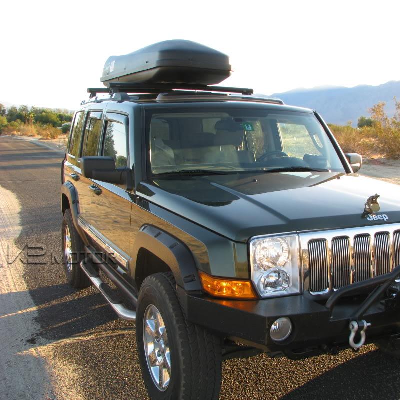 "Smittybilt 3 Nerf Bar Running Boards 2006 08 Dodge Ram: 06-12 Jeep Commander XK 7 Passenger 3"" Side Step Nerf Bar"