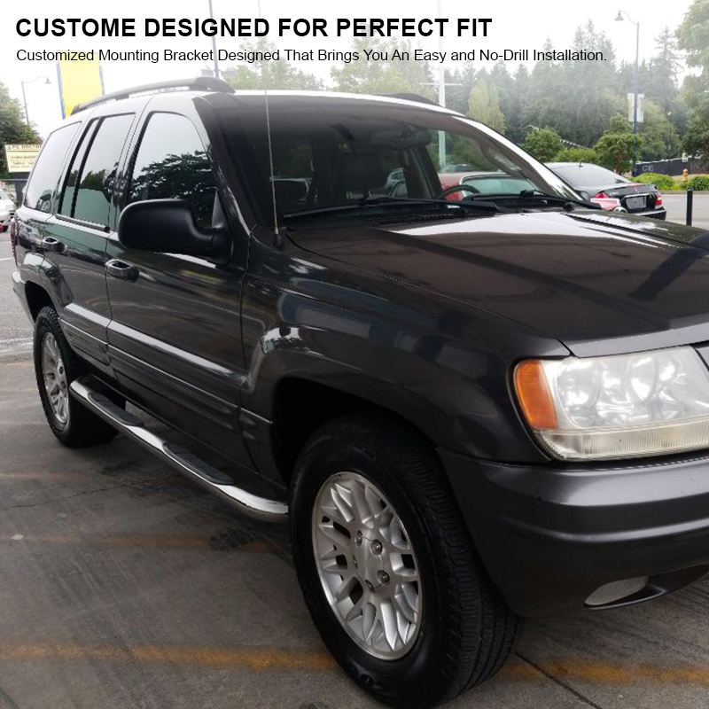 99 04 Jeep Grand Cherokee 3 Quot Side Step Nerf Bar Running