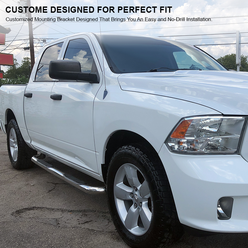 Ram 1500 Running Boards >> 09 15 Dodge Ram 1500 Crew Cab Chrome S S Running Boards Side Step