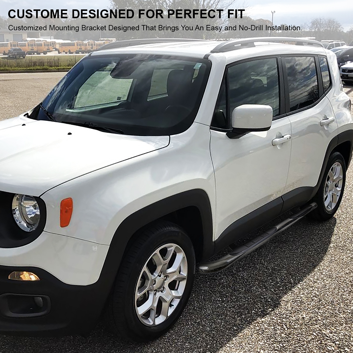 2015-2019 Jeep Renegade Chrome Stainless Steel Running