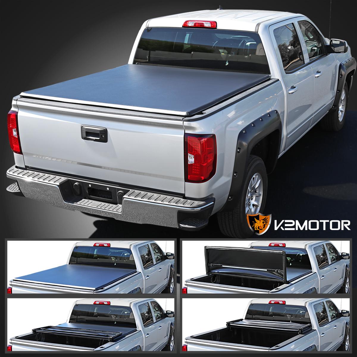 For 2005 2015 Toyota Tacoma Pickup 6ft 72 Bed Tri Fold Tonneau
