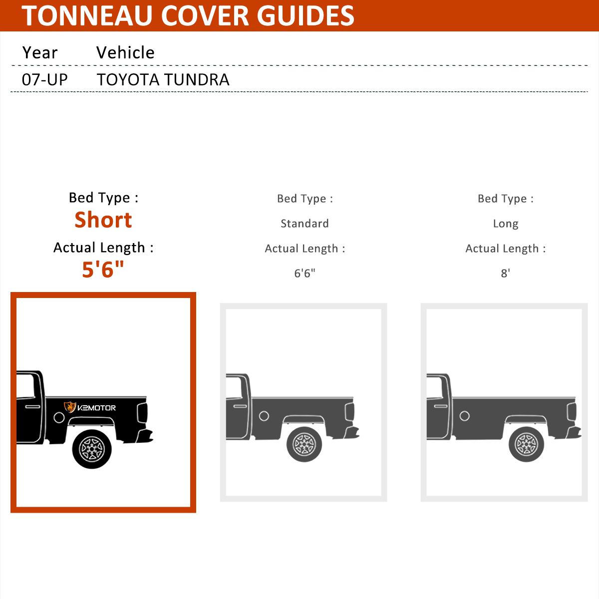 For 2014 18 Toyota Tundra Sr5 Ltd Crewmax 5 5ft Shortbed Tri Fold Tonneau Cover Hd Bau Co At