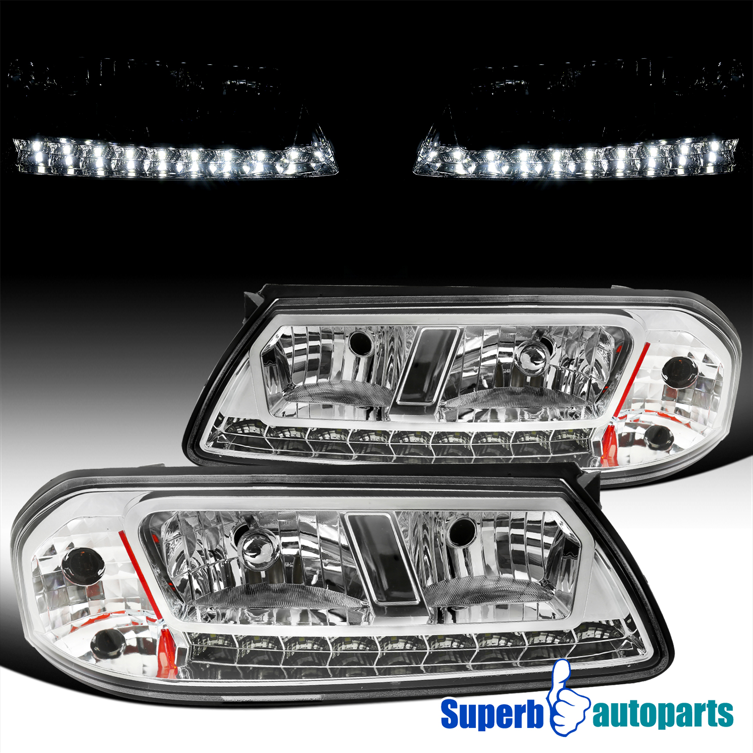 -Chrome 2006 Mitsubishi Fuso FE SERIES Post mount spotlight 6 inch LED Driver side WITH install kit