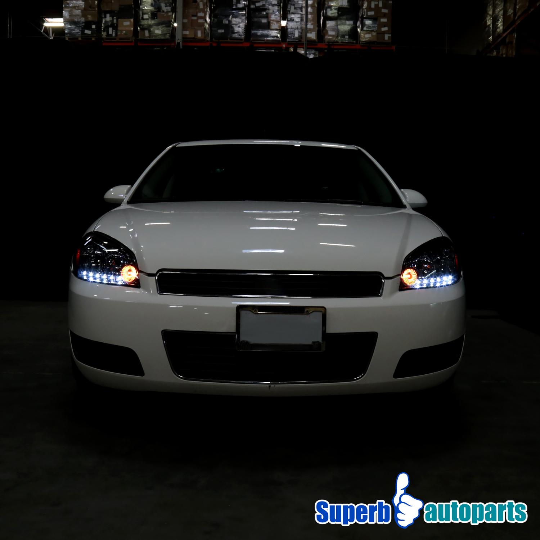 Chevy 2006 2015 Impala 2006 2007 Monte Carlo Smoke LED Headlights