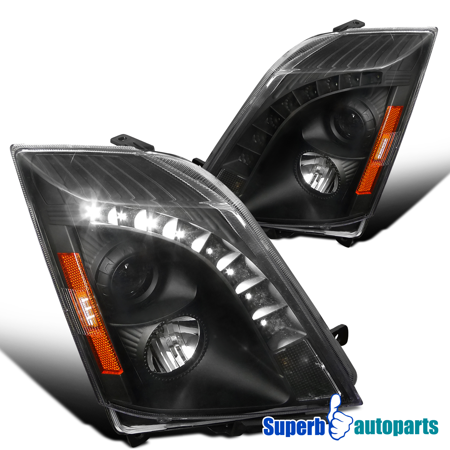2008 2014 Cadillac Cts SMD LED DRL Projector Headlights