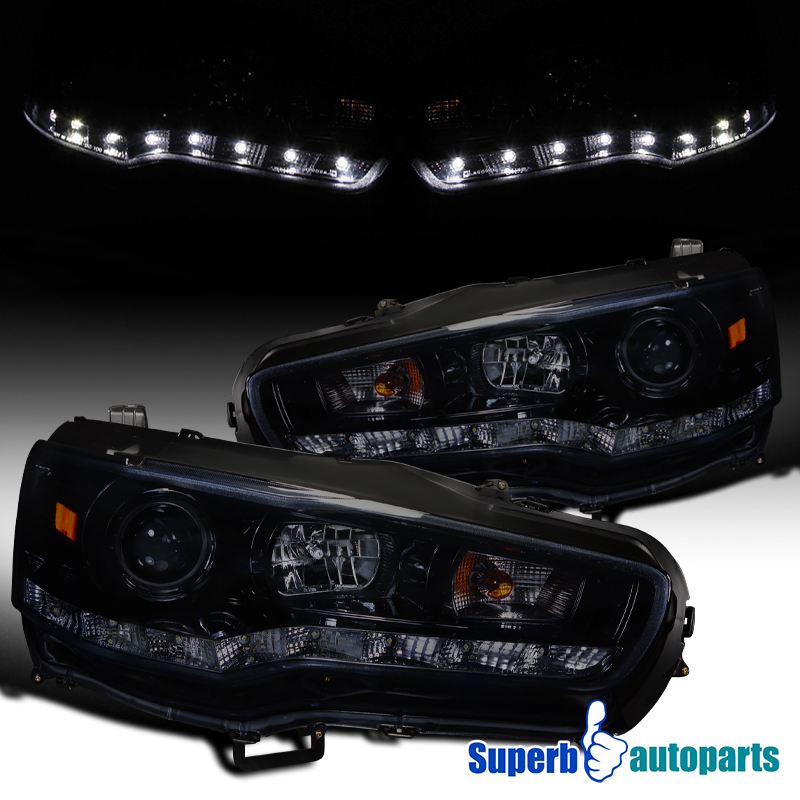 For 2008 2015 Evo X Lancer R8 Led Smoke Projector