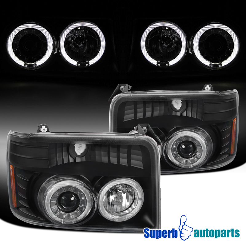 1992 1996 ford ford f150 halo projector headlights f250. Black Bedroom Furniture Sets. Home Design Ideas