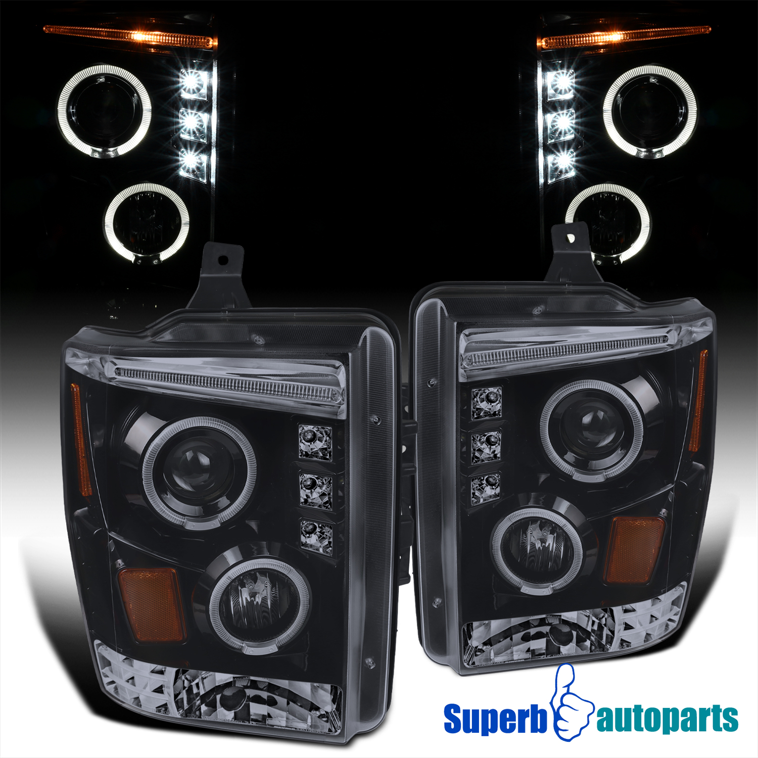 2008 2010 Ford F250 F350 F450 Led Projector Halo