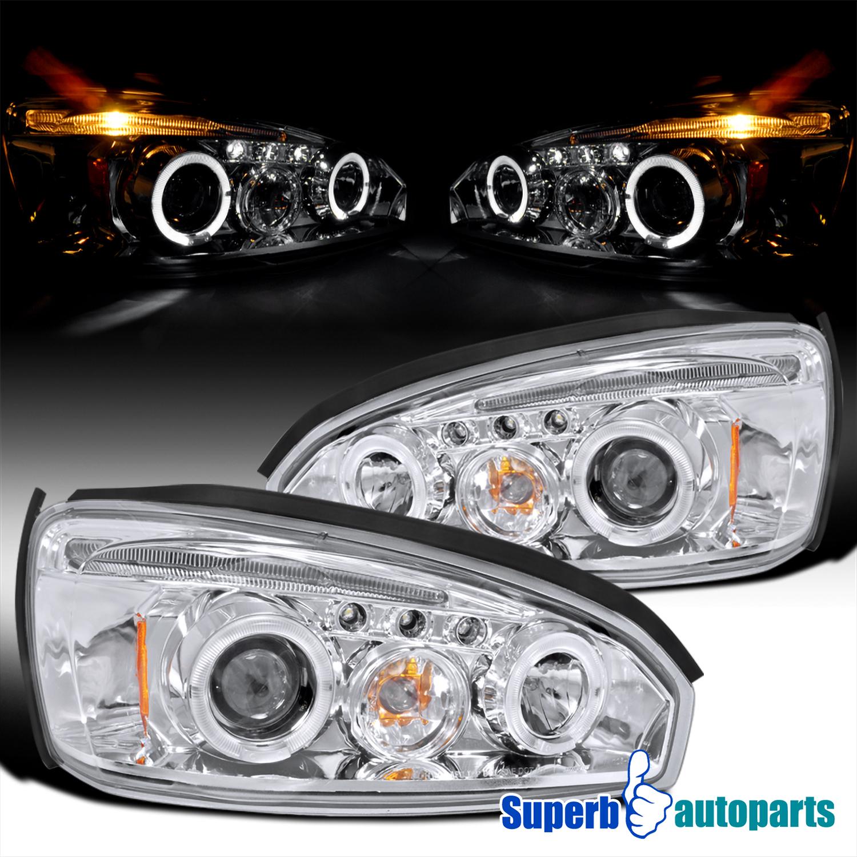 Chevy Malibu Front Lights: 2004-2007 Chevy Malibu Led Halo Chrome Projector