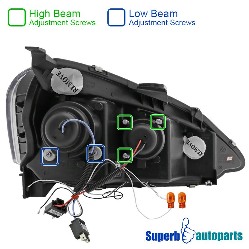 2002-2004 Acura RSX Halo Smoke LED Projector Headlight