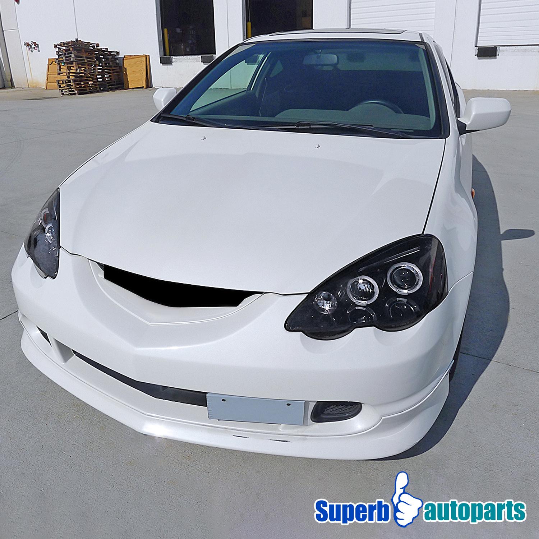 For 2002-2004 Acura RSX Smoke LED Halo Projector Headlight