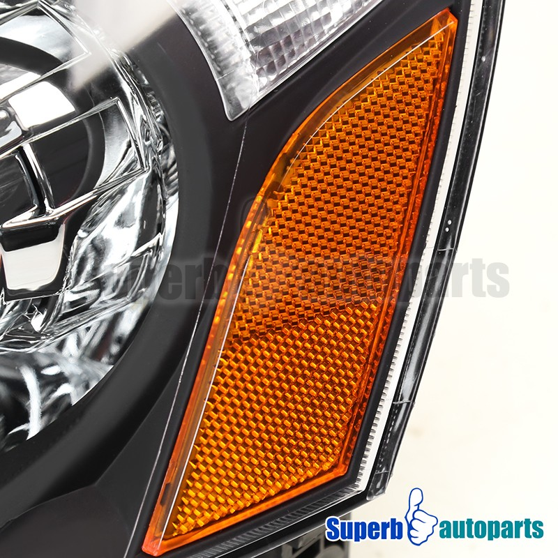 For 2002-2004 Acura RSX Black Projector Headlights Turn