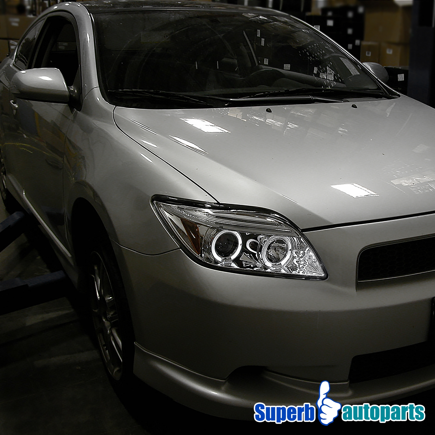 for 2005 2010 scion tc led halo projector headlights lamps