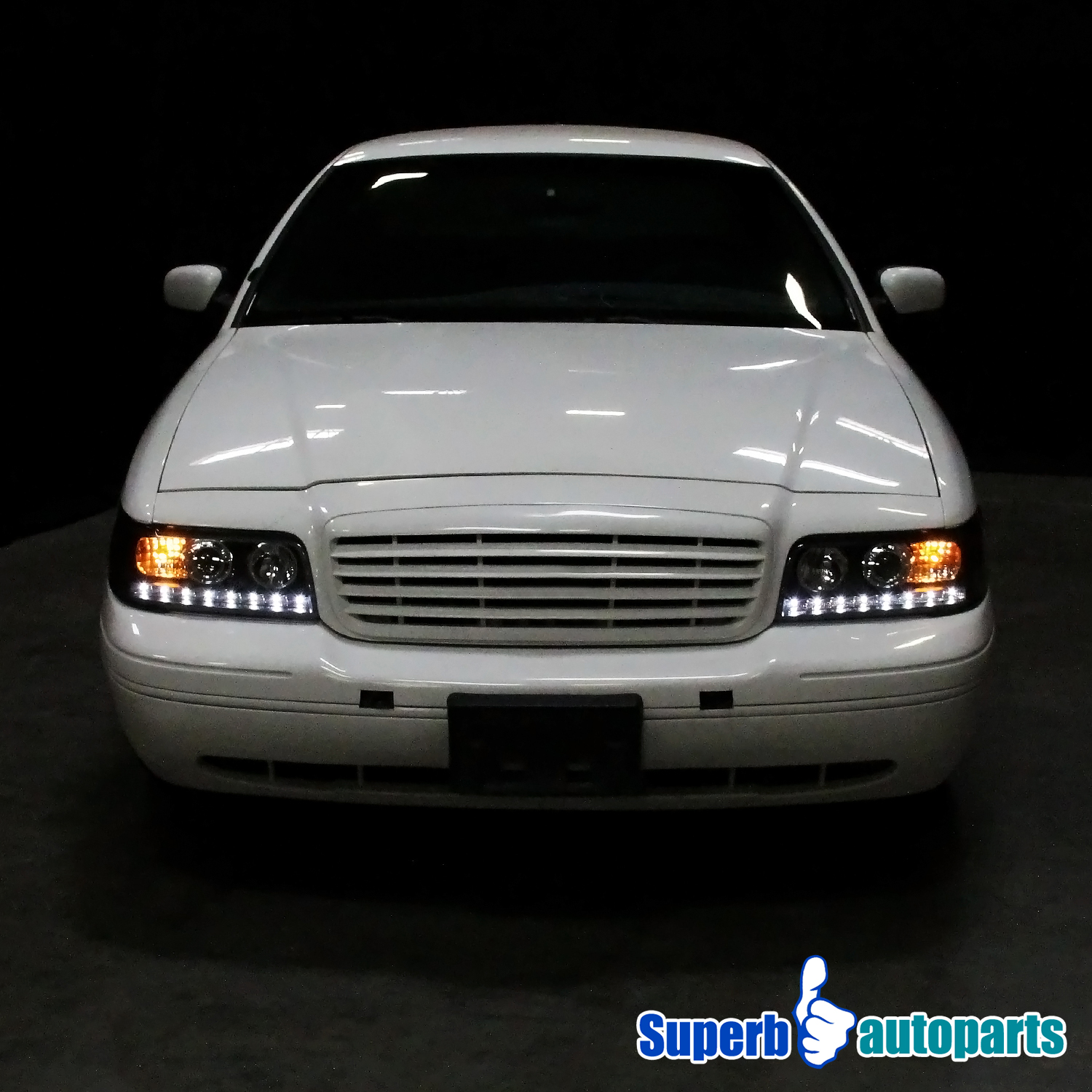 For 1998 2011 Ford Crown Victoria Smd Led Halo Headlights