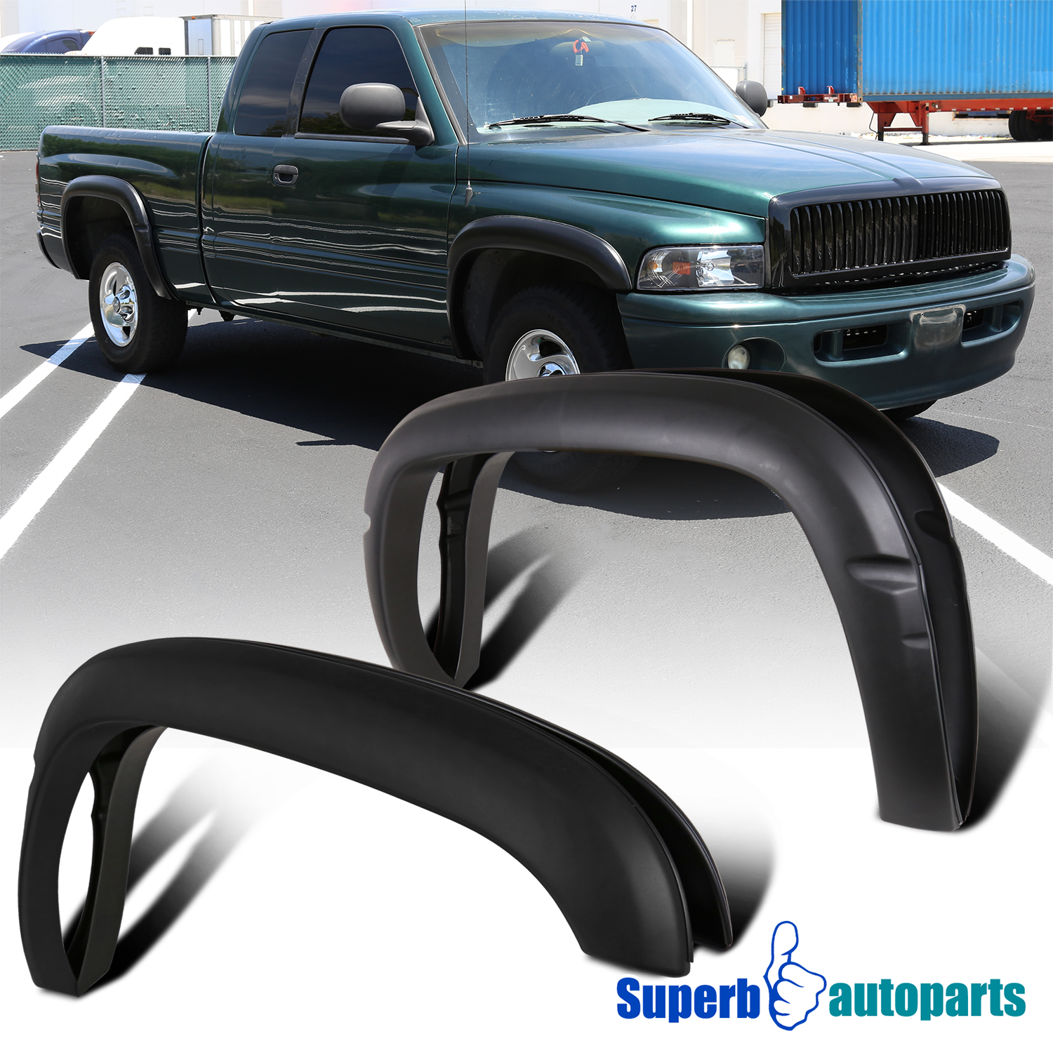 2001 Ram 1500 >> Details About For 1994 2001 Ram 1500 2500 3500 4pcs Textured Black Bolt On Style Fender Flares