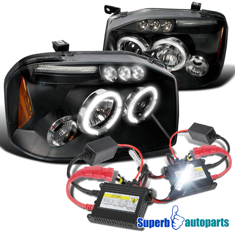 Details about For 2001-2004 Frontier Halo LED Projector Headlights on