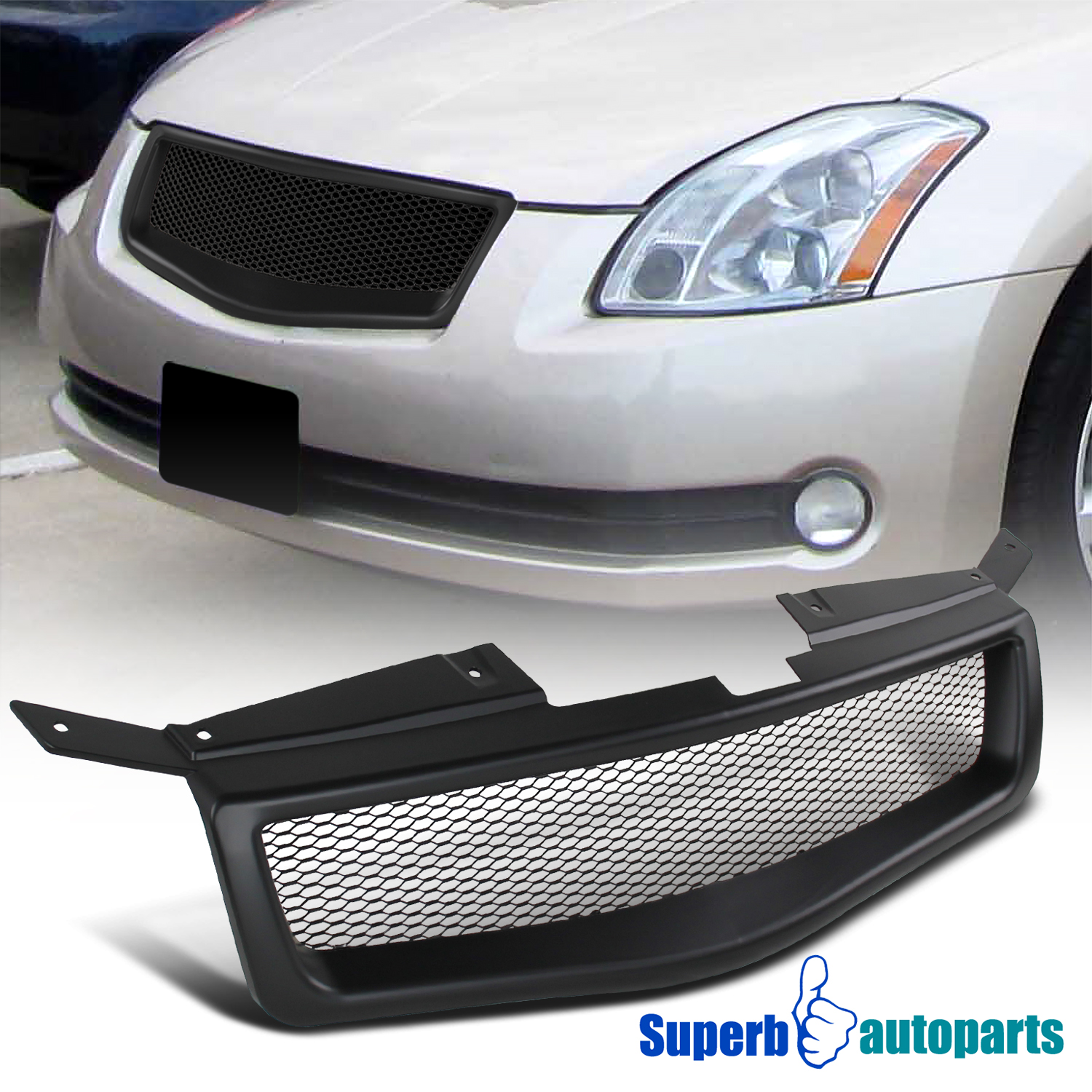 Details about For 2004-2006 Nissan Maxima Black ABS Mesh Style Front Hood  Grille Grill