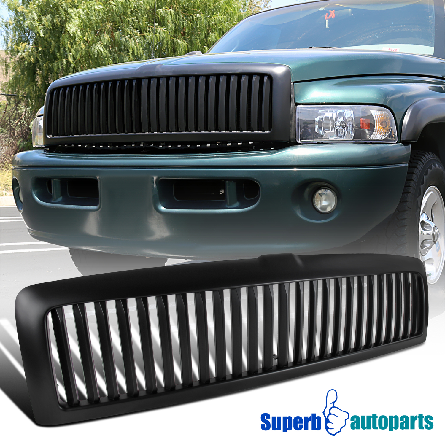 for 1994 2001 dodge ram 1500 2500 3500 abs vertical front hood grill matte black ebay details about for 1994 2001 dodge ram 1500 2500 3500 abs vertical front hood grill matte black