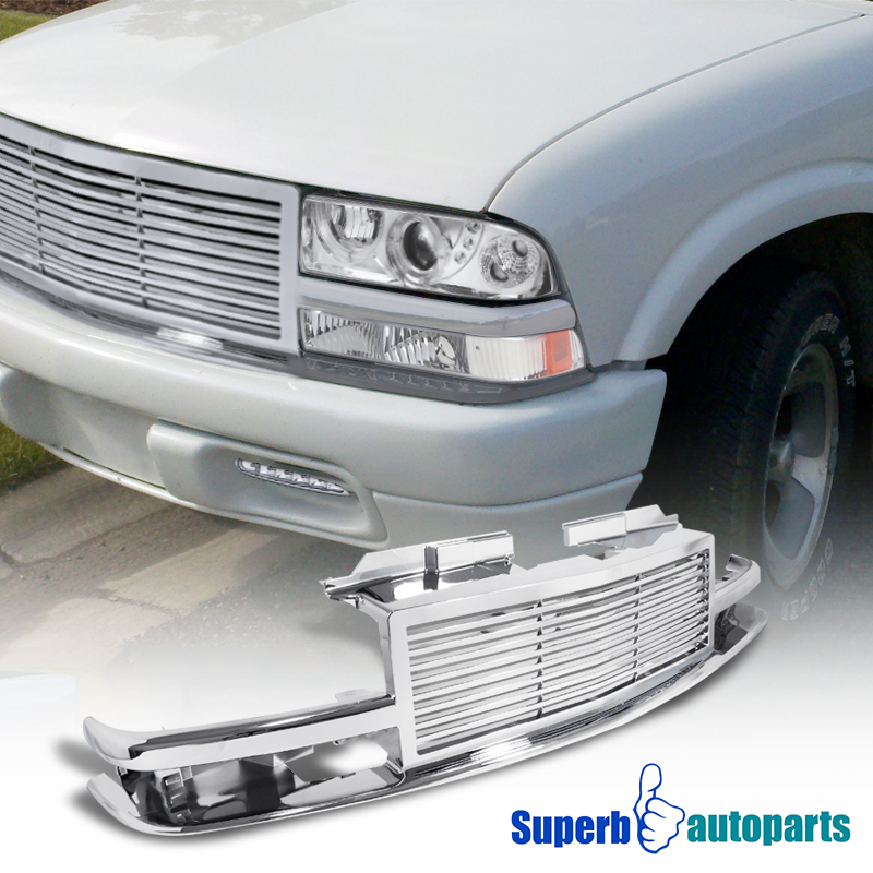 1998-2004 Chevy S10 Blazer Front Bumper Grill Hood Grille