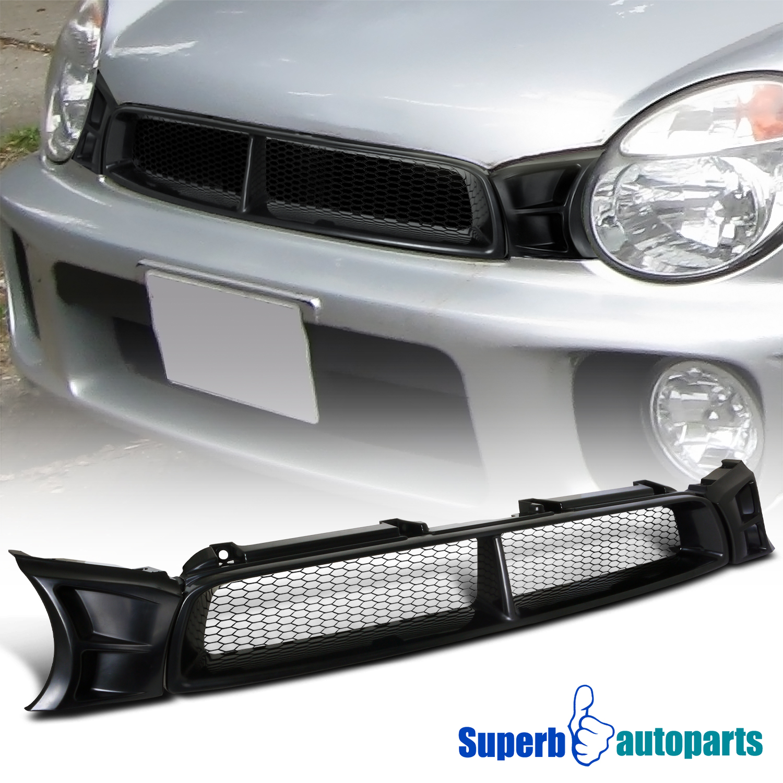 For 2004-2005 Subaru Impreza WRX ABS Mesh Front Hood Grille Black
