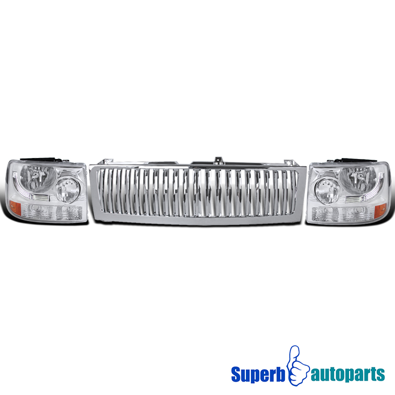 1999 2500 headlights chrome